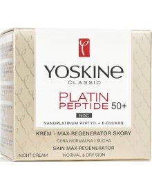 Yoskine Classic Platin Peptide 50+ krem max-regenerator skóry do cery normalnej i suchej na noc 50ml