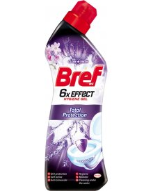 Bref WC 6x Effect Power Gel Total Protection Żel do toalet 750 ml