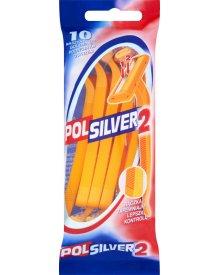 Polsilver 2 Maszynki do golenia z podwójnym ostrzem 10 sztuk