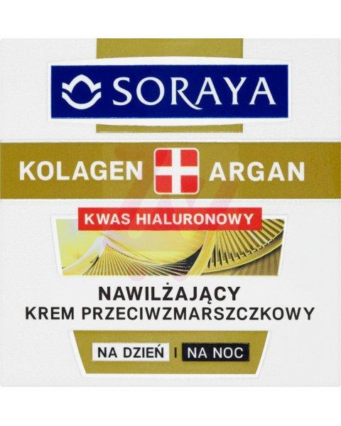 Soraya Kolagen + Argan Nawilżający krem przeciwzmarszczkowy na dzień i na noc 50 ml