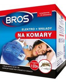 BROS elektrofumigator + 10szt wkładów na komary