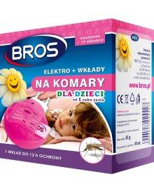 BROS elektrofumigator + 10szt wkładów na komary dla dzieci