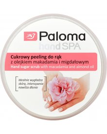 Paloma Hand Spa Cukrowy peeling do rąk z olejkiem makadamia i migdałowym 125 ml