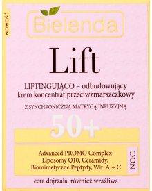 Bielenda Lift 50+ Liftingująco odbudowujący krem koncentrat przeciwzmarszczkowy na noc 50 ml
