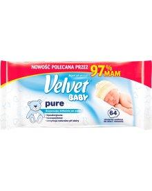 Velvet Baby Pure Chusteczki nawilżane dla dzieci i niemowląt 64 sztuki