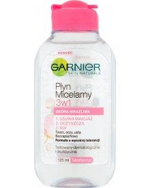 Garnier Skin Naturals Płyn micelarny 3w1 skóra wrażliwa 125 ml