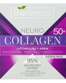 Bielenda Neuro Collagen 50+ Liftingujący krem koncentrat przeciwzmarszczkowy na dzień noc 50 ml