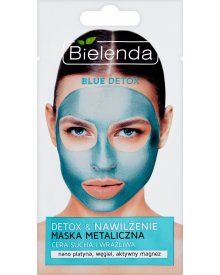 Bielenda Blue Detox Maska metaliczna cera sucha i wrażliwa 8 g
