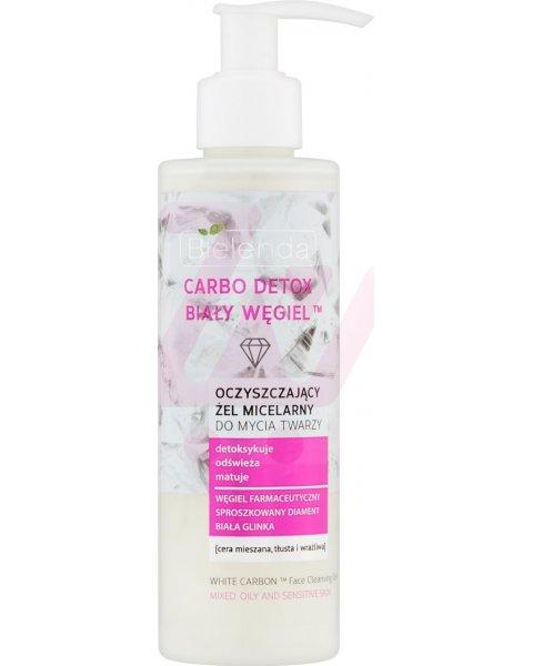 Bielenda Carbo Detox Biały Węgiel Oczyszczający żel micelarny do mycia twarzy 195 g