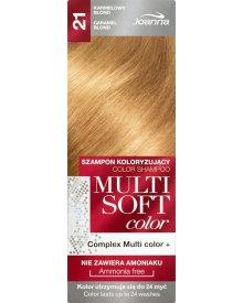 Joanna Multi Soft color Szampon koloryzujący Karmelowy blond 21
