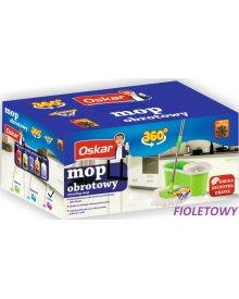 OSKAR mop obrotowy rotacyjny z wiaderkiem fioletowy + dodatkowa szczotka gratis