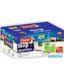 OSKAR mop obrotowy rotacyjny z wiaderkiem niebieski + dodatkowa szczotka gratis