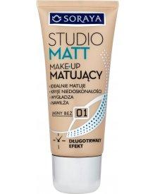 Soraya Studio Matt Make-up matujący 01 jasny beż 30 ml