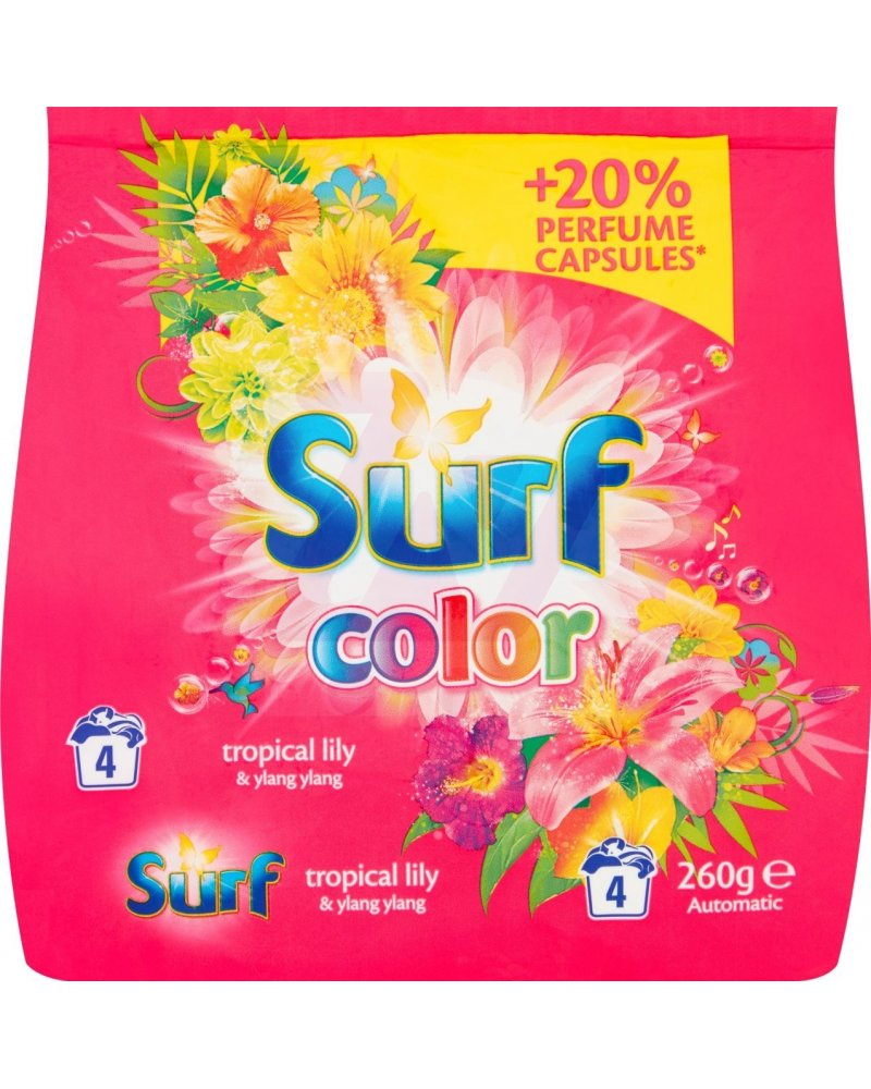 Wspaniały Surf Color Tropical Lily & Ylang Ylang Proszek do prania 260 g (4 XM65