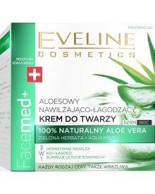 Eveline Facemed+ bio-aloesowy krem do twarzy nawilżająco-łagodzący Aloes 50ml