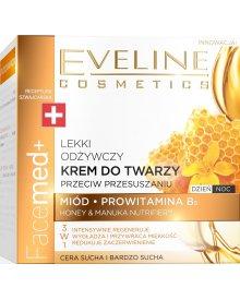 Eveline Facemed+ odżywczy krem do twarzy przeciw przesuszeniom Miód, Manuka 50ml