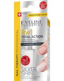 Eveline Nail Therapy skoncentrowana odżywka do paznokci z drobinkami srebra Silver Shine 8w1 12ml