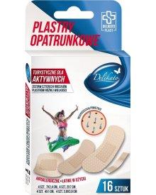 DelikatoPlast hipoalergiczne plastry opatrunkowe turystyczne dla aktywnych przepuszczające powietrze 16 szt