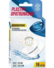 DelikatoPlast hipoalergiczne plastry opatrunkowe wodoodporne przepuszczające powietrze 16 szt