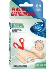 DelikatoPlast hipoalergiczne plastry ekonomiczne przepuszczające powietrze 50x6 cm