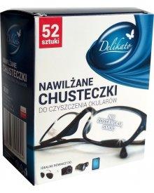Delikato chusteczki nawilżane do czyszczenia okularów 52 szt
