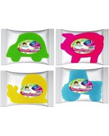 Delikato kolorowa myjka do ciała dla dzieci różne kształty1szt