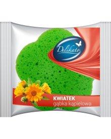 Delikato gąbka kąpielowa Kwiatek 1szt