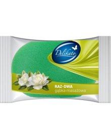 Delikato gąbka masażowa Raz-dwa 1szt