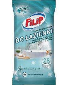Filip nawilżane ściereczki czyszczące do łazienki 28 szt