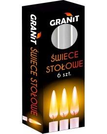 Granit świece stołowe 6szt
