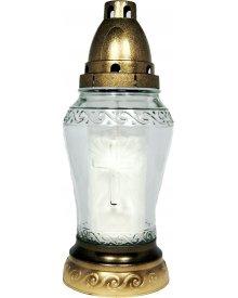 Granit Z8 znicz szklany z wkładem 23cm ~2dni palenia 1szt