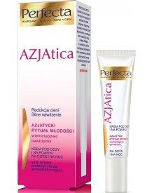 Perfecta AZJAtica White Krem pod oczy i na powieki na dzień i na noc redukcja cieni silne nawilżenie 15ml
