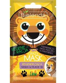 Bielenda Crazy Mask Maska oczyszczająca w płacie 3D Lew 1 sztuka