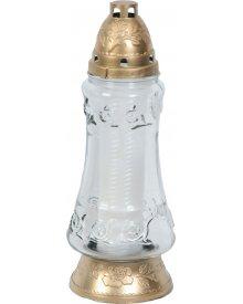 Znicz szklany z wkładem nr L1085 31cm ~3.5dni palenia 1szt