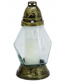 Znicz szklany z wkładem nr P60 25cm ~2dni palenia 1szt