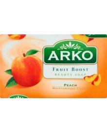 Arko Fruit Boost Brzoskwinia Mydło kosmetyczne z kremem nawilżającym 90 g
