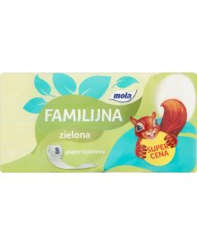 Mola Familijna Zielona Papier toaletowy 8 rolek
