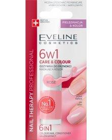 Nail Therapy Professional Odżywka do paznokci nadająca kolor 6w1 Rose