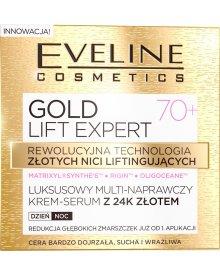 GOLD LIFT EXPERT Luksusowy multi-naprawczy krem-serum z 24k złotem 70+