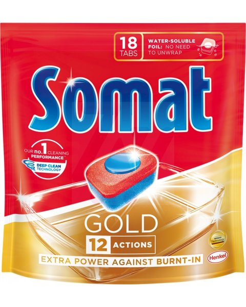Somat Gold Tabletki do mycia naczyń w zmywarkach 345,6 g (18 x 19,2 g)
