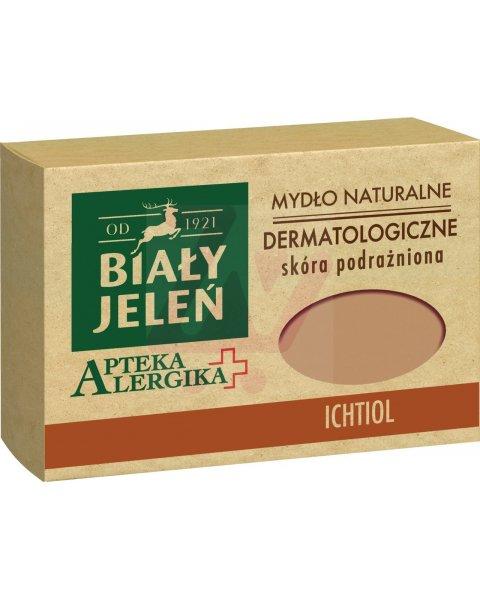 Biały Jeleń Apteka Alergika Mydło naturalne dermatologiczne ichtiol 125 g