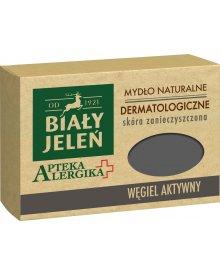 Biały Jeleń Apteka Alergika Mydło naturalne dermatologiczne węgiel aktywny 125 g