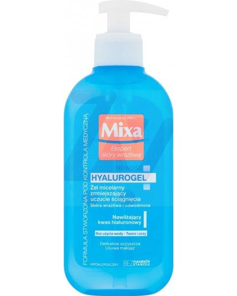 Mixa Hyalurogel Żel micelarny zmniejszający uczucie ściągnięcia 200 ml