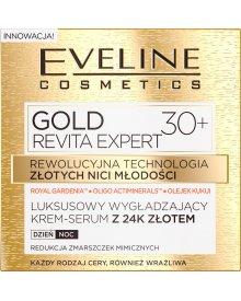 GOLD REVITA EXPERT Luksusowy wygladzający krem-serum z 24k złotem 30+