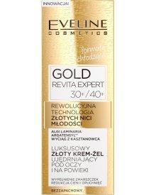 GOLD REVITA EXPERT Luksusowy złoty krem-żel ujędrniający pod oczy i na powieki 30+/40+