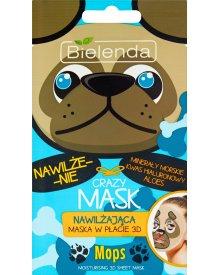 Bielenda Crazy Mask Nawilżająca maska w płacie 3D mops