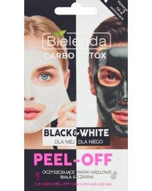 Bielenda Carbo Detox Black&White Oczyszczające maski węglowe peel-off dla niej i dla niego 2 x 6 g