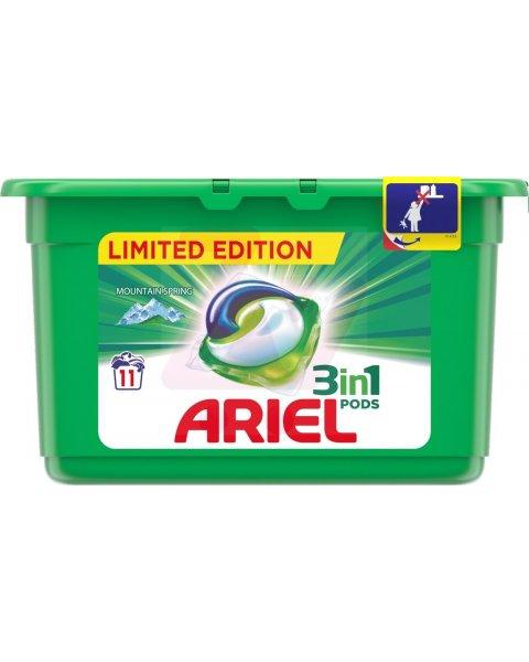 Ariel Mountain Spring 3 w 1 Kapsułki do prania, 11prań