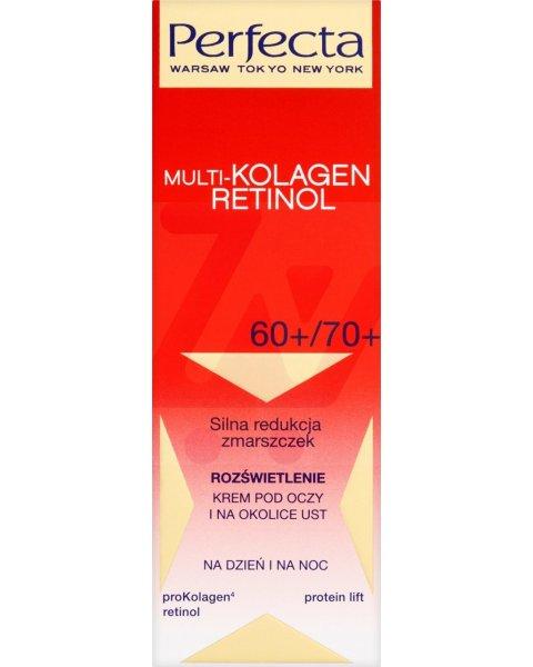 Perfecta Multi-Kolagen Retinol 60+/70+ Rozświetlenie Krem pod oczy i na okolice ust 15 ml