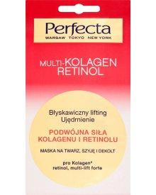 Perfecta Multi-Kolagen Retinol Podwójna siła kolagenu i retinolu Maska na twarz szyję i dekolt 8 ml